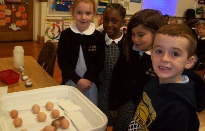 1st Graders With Chickens